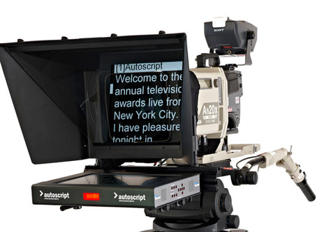"""Genuine AUTOSCRIPT brand 17"""" prompters for all your broadcast camera-mounted applications"""