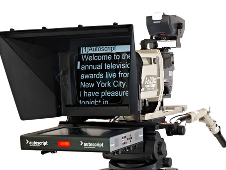"Genuine AUTOSCRIPT brand 17"" prompters for all your broadcast camera-mounted applications"