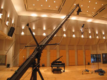 Jimmy Jib in avatar studio piano for documentary