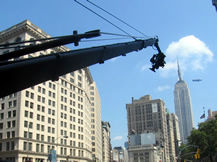 Jimmy Jib outdoors Chelsea NYC, Howard Heitner Jib Operator