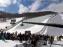 Jib in Vermont Snowboarding Championships, Howard Heitner Jib Operator