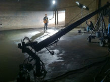 Jimmy Jib hot head at Brooklyn music video shoot