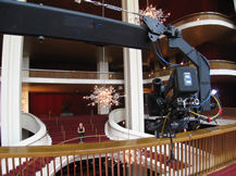 Jib shoot at Lincoln Center, Howard Heitner Jib Operator