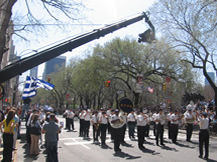 Jimmy Jib perfect for shooting parades