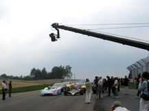 Jimmy Jib at the starting line, Howard Heitner Jib Operator
