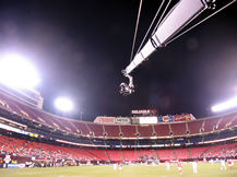 Giants Stadium soccer game jib shoot, Howard Heitner Jib Operator