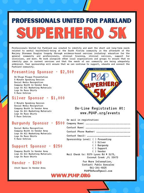 PU4P Race Sponsorship - Burgundy Sponsor