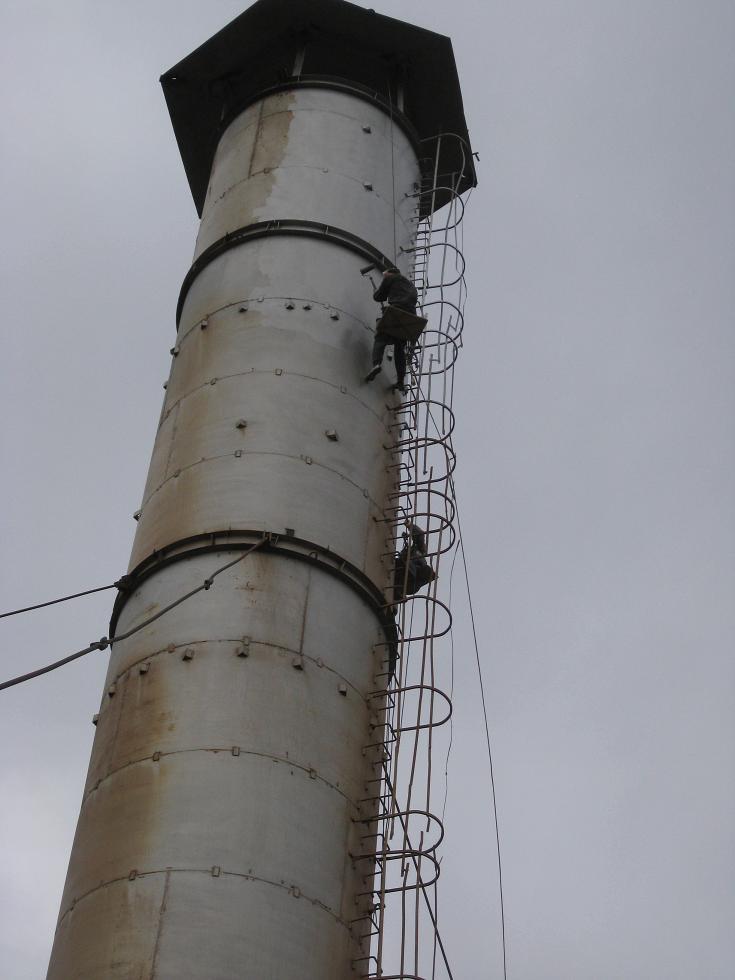 Ремонт дымовой трубы