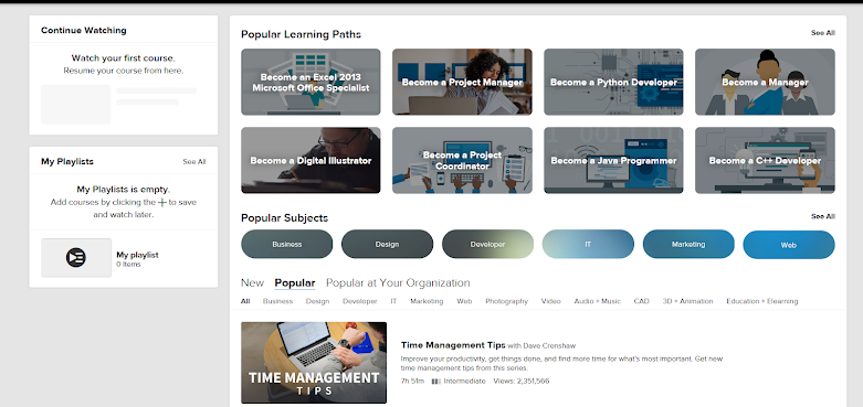 Lynda Courses for free