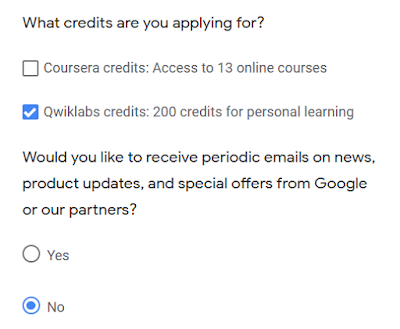 Qwiklabs credits and Google Cloud Courses for free