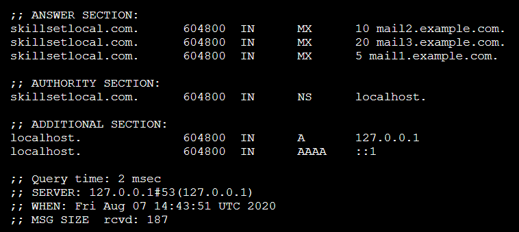 Information gathering from DNS records