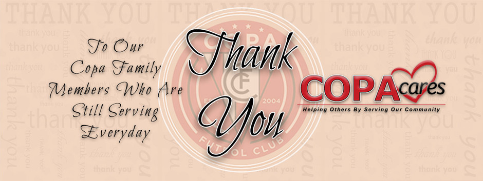 THANK YOU FC COPA FIRST RESPONDERS!