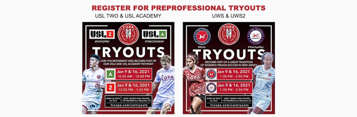 USL2 USLA UWS UWS2 TRYOUTS 2021