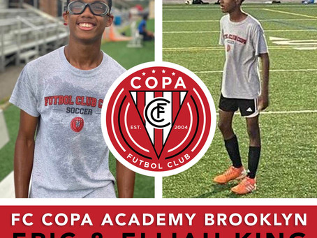 FC Copa Brooklyn Player Spotlights: Eric King, B04 and Elijah King, B06