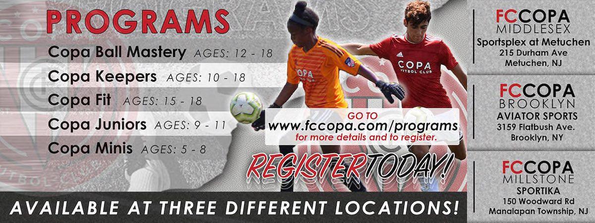 Register For Copa Training Programs