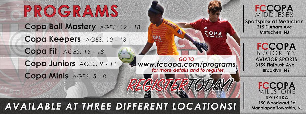 Register For Copa Training Programs