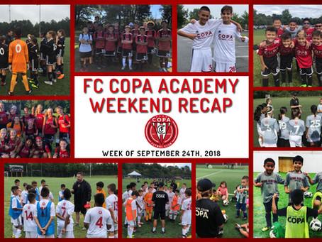 FC COPA ACADEMY WEEKEND RECAP 9/22-23