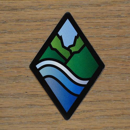Diamond Logo Sticker