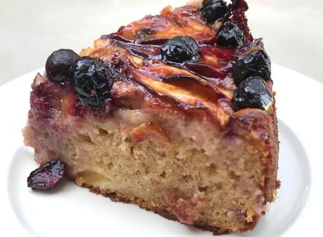 Peach & Blueberry Yoghurt Cake