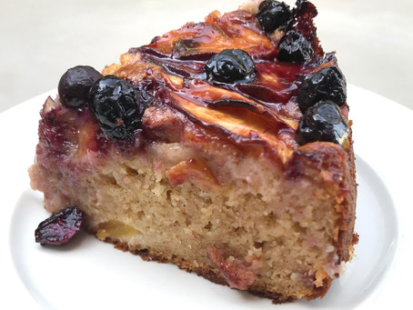 Peach & Blueberry Yoghurt Cake