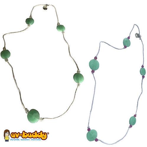 UV Reactive Mint Necklace