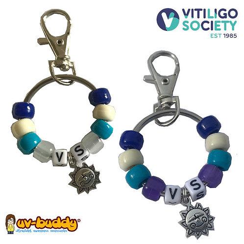 Approved Vitiligo Society Large UV Bag Charm