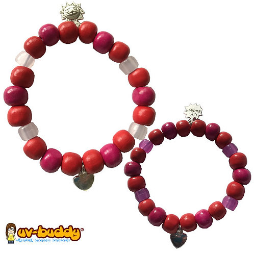 eco-friendly Love UV Reactive Bracelet