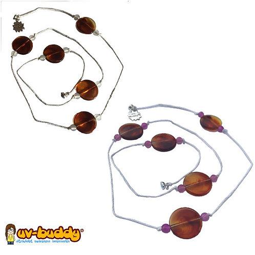 UV Reactive Caramel Necklace