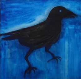 The second crow, watercolour on paper,33