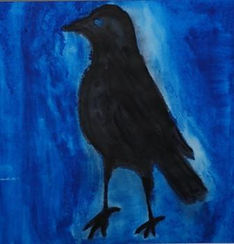 The first crow,water colour on paper,201