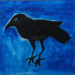 The thied crow,water colour on paper,33x