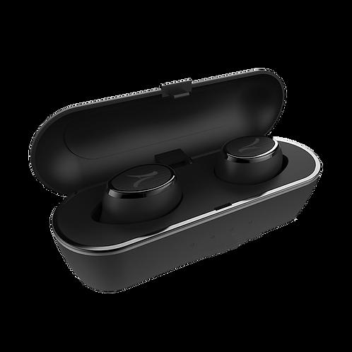 Mini Ecouteurs Stéréo True Wireless avec Boitier Batterie Noir