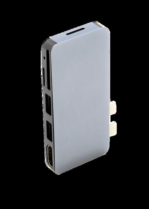 Hub USB C Macbook Pro / HD avec Lecteur de Carte SD / Micro SD / 2 Ports USB 3.0