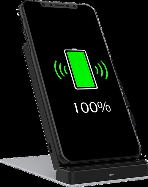 Chargeur Rapide Sans Fil (Wireless) Certifié QI 10W avec position stand