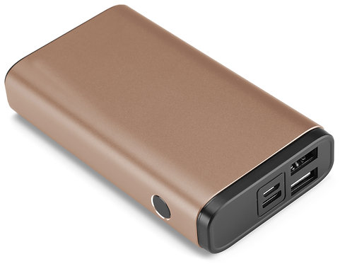 Batterie Externe Charge Rapide - 10,000 mAh - Or