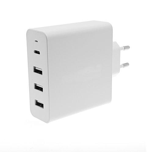 Chargeur Secteur Intelligent 6A USB-C 45W avec 3 USB + 1 USB-C