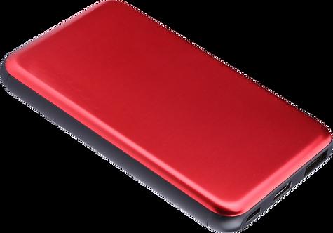 Batterie de Secours Ultra Slim Charge Rapide - 5000 mAh - Rouge