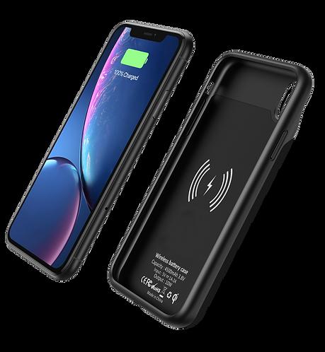 Coque Qi pour iPhone XR : Batterie externe de 4500 mAh chargeur Qi