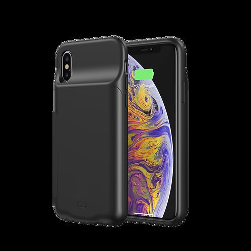 Coque Qi pour iPhone XS : Batterie externe de 3500 mAh chargeur Qi