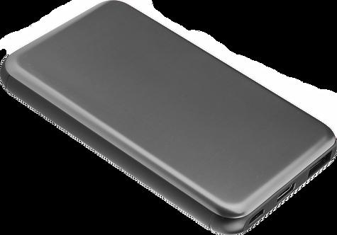 Batterie de Secours Ultra Slim Charge Rapide - 5000 mAh - Gris Sidéral
