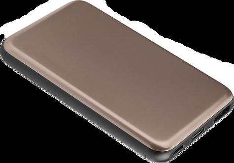 Batterie de Secours Ultra Slim Charge Rapide - 5000 mAh - Or