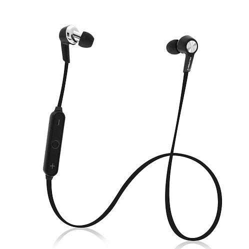 Ecouteurs Bluetooth Stéréo Intra-Auriculaires avec Telecommande et Micro Noir