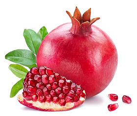 Ripe pomegranate fruits with pomegranate