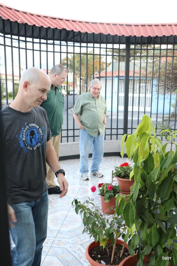 Checking out the McGinnis garden