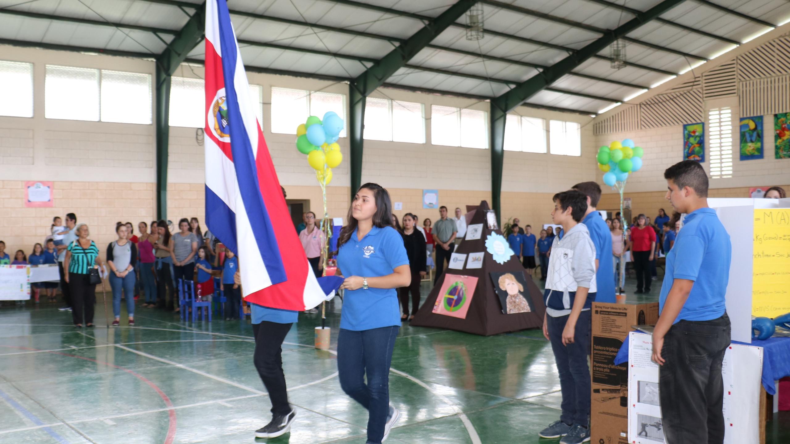 Entrada de la bandera de Costa Rica