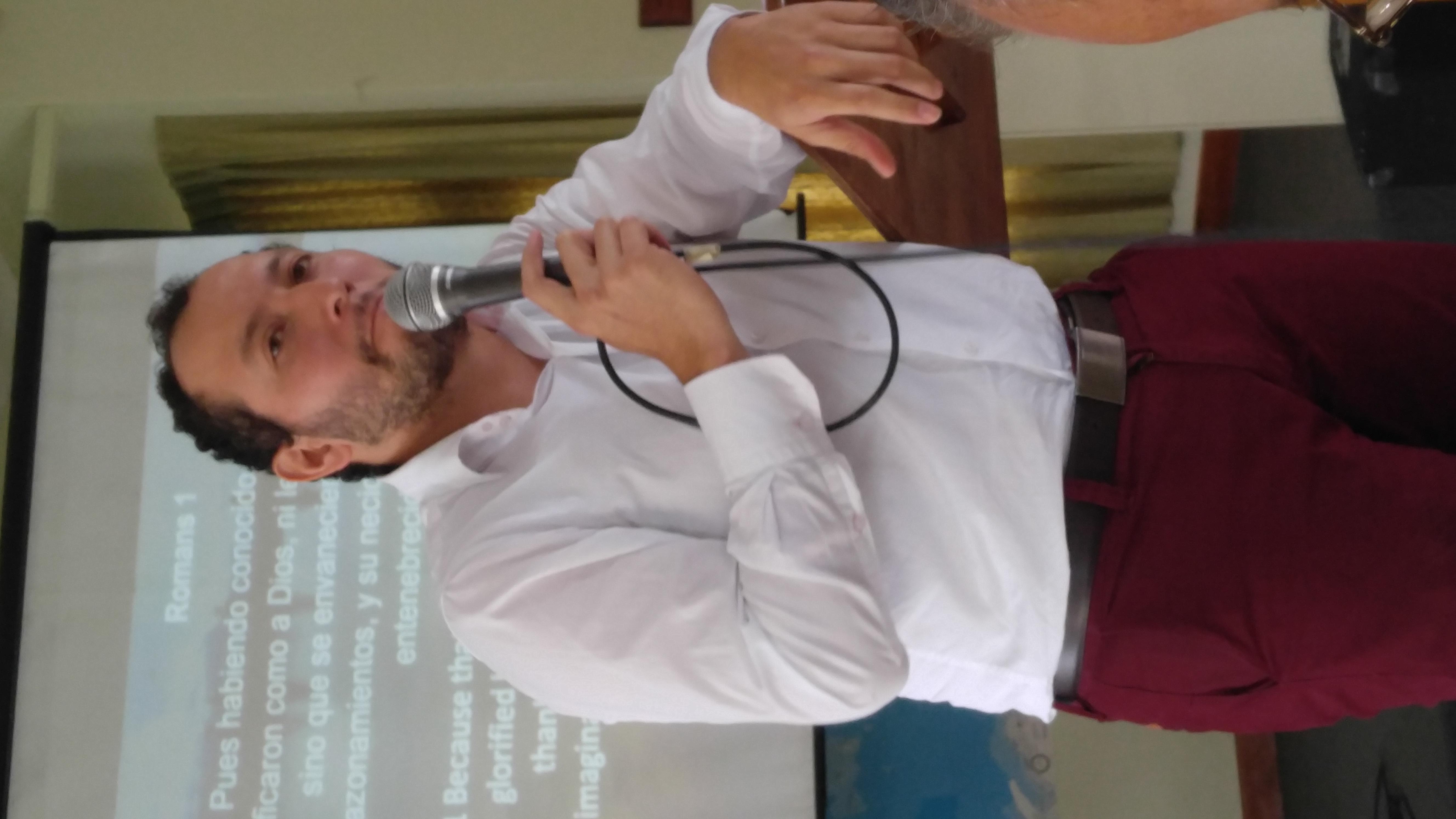 "Carlos ""Gemelo"" preaching last Sunda"