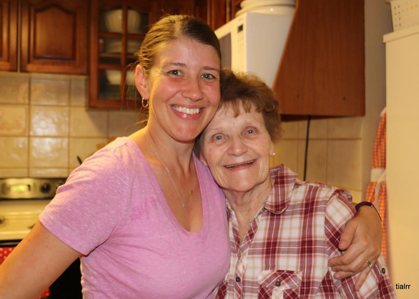 Joni McGinnis with mom Libby
