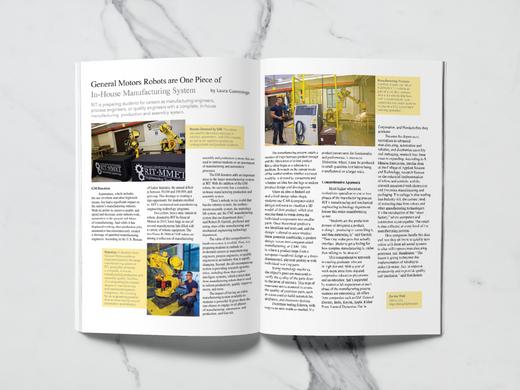 RIT CAST magazine spread