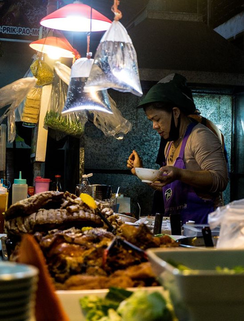 Late night food stalls