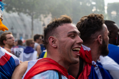 A French man celebrated winning the World Cup